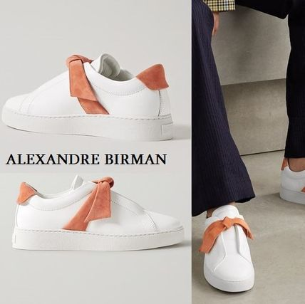 Rubber Sole Casual Style Suede Street Style Plain Leather