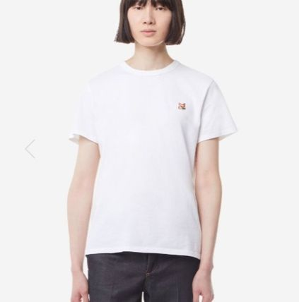 MAISON KITSUNE More T-Shirts U-Neck Plain Cotton Short Sleeves Logo Designers T-Shirts 4