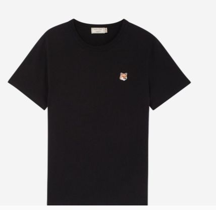 MAISON KITSUNE More T-Shirts U-Neck Plain Cotton Short Sleeves Logo Designers T-Shirts 6