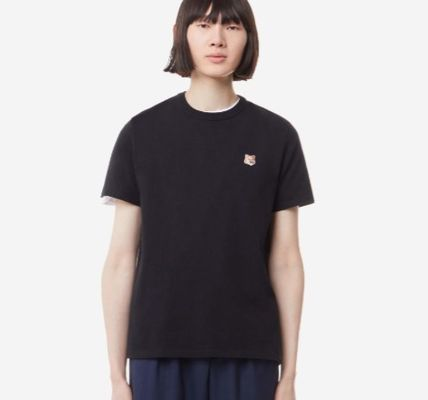MAISON KITSUNE More T-Shirts U-Neck Plain Cotton Short Sleeves Logo Designers T-Shirts 8