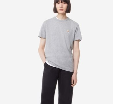 MAISON KITSUNE More T-Shirts U-Neck Plain Cotton Short Sleeves Logo Designers T-Shirts 9