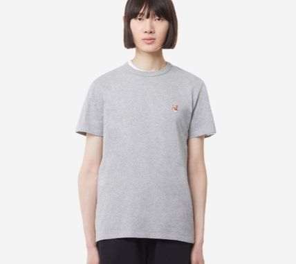 MAISON KITSUNE More T-Shirts U-Neck Plain Cotton Short Sleeves Logo Designers T-Shirts 12