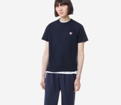 MAISON KITSUNE More T-Shirts U-Neck Plain Cotton Short Sleeves Logo Designers T-Shirts 13