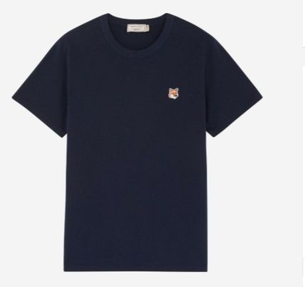 MAISON KITSUNE More T-Shirts U-Neck Plain Cotton Short Sleeves Logo Designers T-Shirts 14