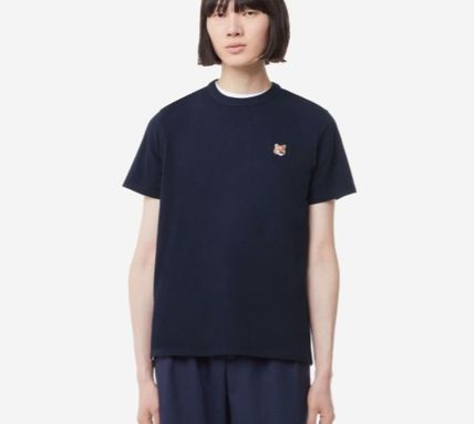 MAISON KITSUNE More T-Shirts U-Neck Plain Cotton Short Sleeves Logo Designers T-Shirts 15