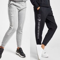 EMPORIO ARMANI Sweat Blended Fabrics Street Style Bi-color Cotton