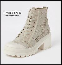 River Island Flower Patterns Casual Style Blended Fabrics