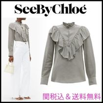 See by Chloe Gingham Long Sleeves Medium Party Style Office Style