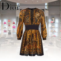 Christian Dior Casual Style Cotton Long Elegant Style Shirts & Blouses