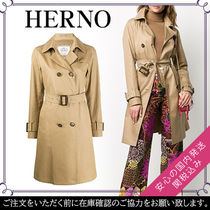 HERNO Plain Long Trench Coats