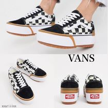 VANS Other Plaid Patterns Platform Casual Style Street Style