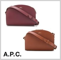 A.P.C. Casual Style Plain Leather Bold Shoulder Bags