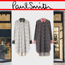 Paul Smith Flower Patterns Casual Style Long Sleeves Cotton Long