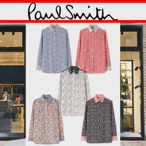Paul Smith Flower Patterns Casual Style Long Sleeves Cotton