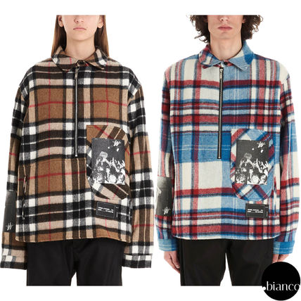 Pullovers Other Plaid Patterns Unisex Wool Street Style
