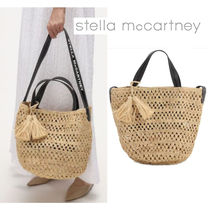 Stella McCartney Logo Straw Bags