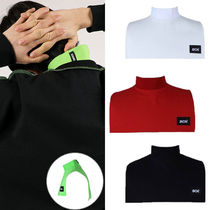BASIC COTTON Casual Style Unisex Street Style Plain Cotton Collars