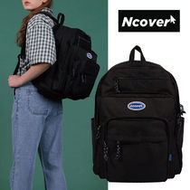 ncover Casual Style Unisex Street Style Plain Backpacks