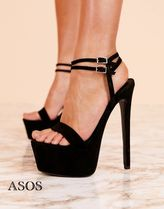ASOS Round Toe Plain Pin Heels Party Style Shoes