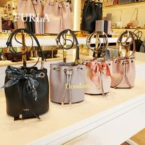 FURLA Casual Style 2WAY Plain Leather Party Style Purses