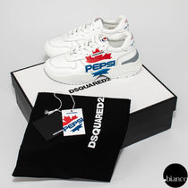 D SQUARED2 Unisex Street Style Collaboration Leather Sneakers
