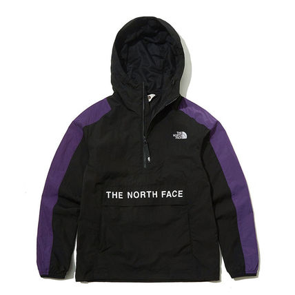THE NORTH FACE WHITE LABEL Unisex Nylon Street Style Long Sleeves Plain Logo Neon Color