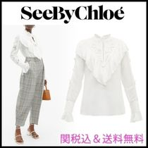 See by Chloe Flower Patterns Casual Style Long Sleeves Plain Party Style