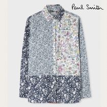 Paul Smith Flower Patterns Casual Style Long Sleeves Plain Cotton