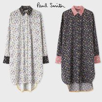 Paul Smith Flower Patterns Casual Style Long Sleeves Plain Cotton Long