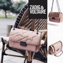 ZADIG & VOLTAIRE Leather Office Style Shoulder Bags