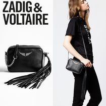 ZADIG & VOLTAIRE Casual Style Plain Leather Shoulder Bags