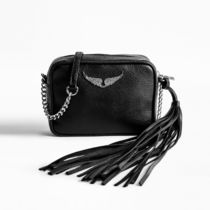 ZADIG & VOLTAIRE Casual Style Plain Leather Logo Shoulder Bags