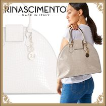 Rinascimento Casual Style Faux Fur Other Animal Patterns Handbags