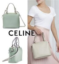 CELINE Calfskin 2WAY Plain Leather Party Style Office Style