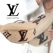 Louis Vuitton Casual Style Plain Leather Shearling Logo Hip Packs