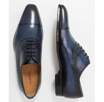 MAGNANNI Straight Tip Plain Toe Leather Oxfords