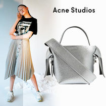 Acne Casual Style Plain Leather Office Style Elegant Style