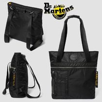 Dr Martens Casual Style Unisex Nylon A4 2WAY Plain Totes
