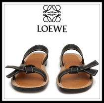 LOEWE GATE Casual Style Plain Leather Sandals Sandal