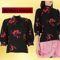 Ganni Flower Patterns Casual Style Elegant Style Shirts & Blouses