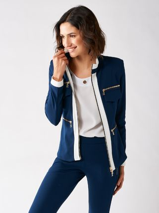 Casual Style Bi-color Plain Medium Party Style Office Style