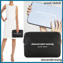 Alexander Wang Casual Style Plain Leather Office Style Clutches