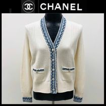 CHANEL Casual Style Long Sleeves Plain Medium Party Style