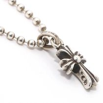 CHROME HEARTS CH CROSS Unisex Street Style Chain Silver Necklaces & Chokers