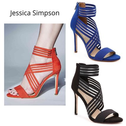 Open Toe Casual Style Pin Heels Party Style Elegant Style