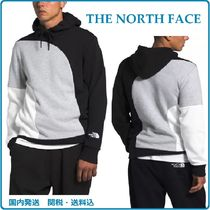 THE NORTH FACE Pullovers Street Style Bi-color Long Sleeves Logo Hoodies