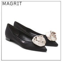 MAGRIT Plain Party Style Elegant Style Pointed Toe Shoes