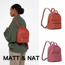 MATT&NAT Casual Style Nylon Plain Backpacks
