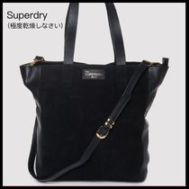 Superdry Unisex 2WAY Plain Leather Totes