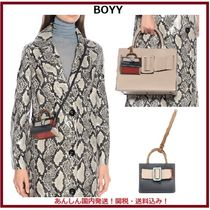 BOYY Casual Style 2WAY Plain Leather Shoulder Bags